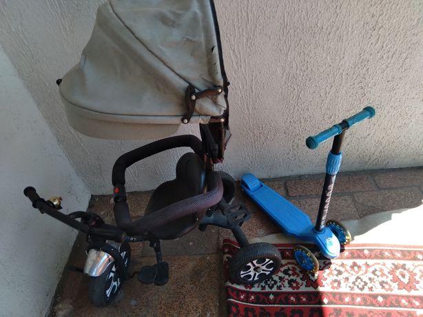 Продам велосипед и самокат 5000