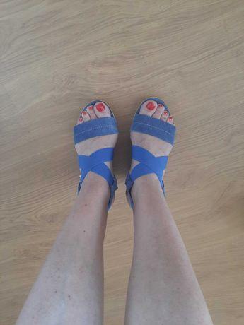 sandale piele 36 tom tailor platforma