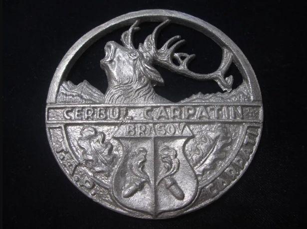 medalie plachetă vânătoare Cerbul Carpatin Brașov