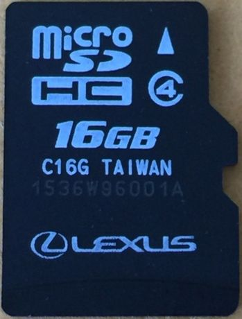 Lexus 2020гд Micro SD Card Европа Русия Турция Gen8/Gen9 Оригинална Сд