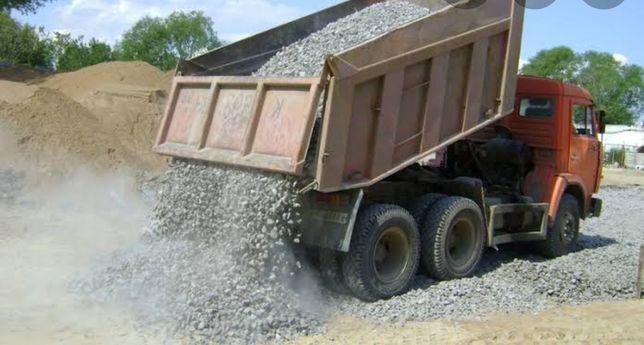 Доставка: щебень, отсев, песок, балласт, ПГС, ГШС, Глина, Сникерс