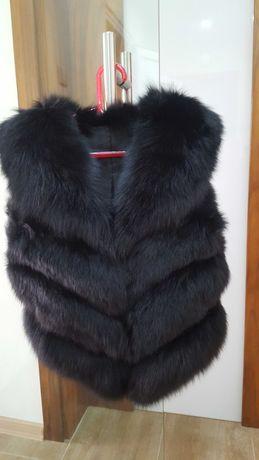 Кожен елек Сибирска лисица