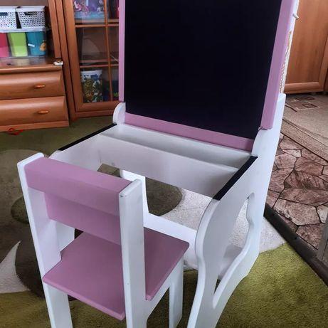 Детский стол- мальберт,стул . В подарок бизиборд.