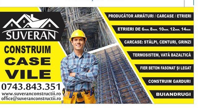 Garduri / Case / Vata Bazaltica / Polistiren / Fier fasonat/ Armaturi