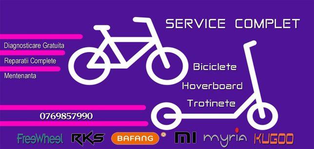 Reparatii trotinete, biciclete și hoverboard. Service!