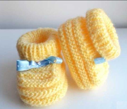 Пинетки носочки вязаные