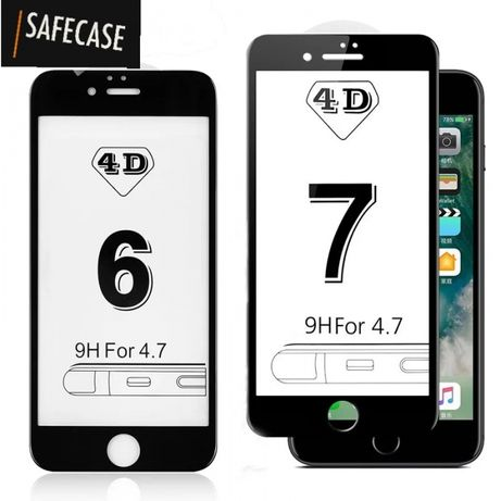 4D Стъклен протектор за Iphone 6 / 6S / 7 7+ 8 8+ 11 Pro X XS Max 5D