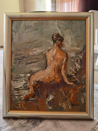 Pictor Mihail Gavril - Tablou in ulei 18,5x22 cm