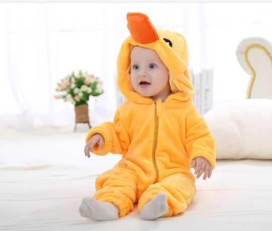 Pijama-salopeta pufoasa pentru copii cu animalute (Onesie)