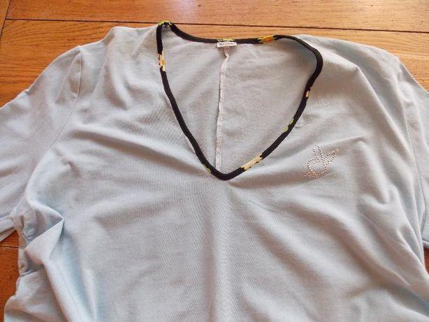 Bluza bleu din bumbac pentru gravide mar 42-44