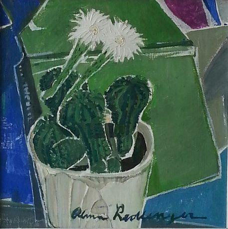 Tablou original Alma Redlinger-Flori de cactus.Investitie inspirata!