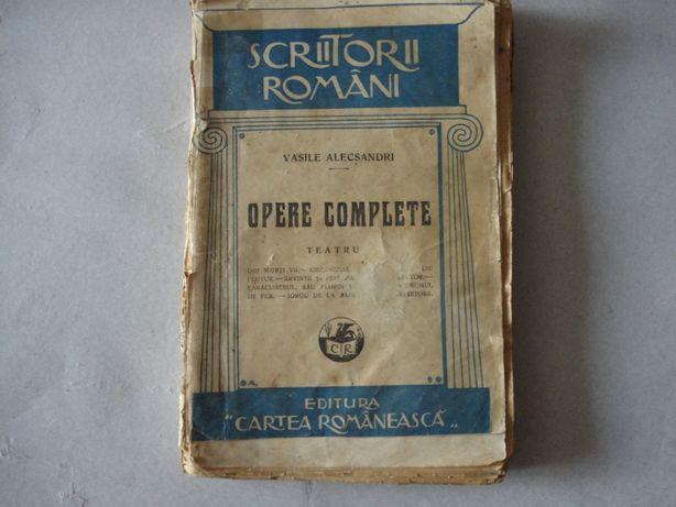 Carte veche 1928: V.Alecsandri--Opere complete:Teatru