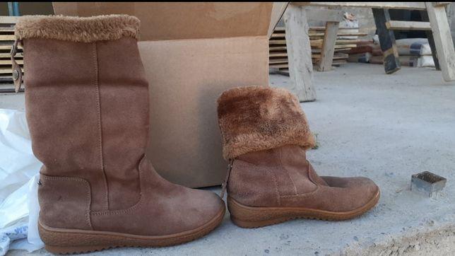 Зимние, замшевые ботинки.