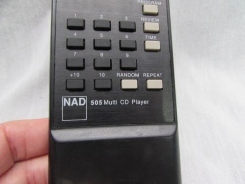 NAD Multi CD Player Remote Control Model 505