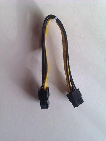 Cablu adaptor pci placa video 6pin la 8pin