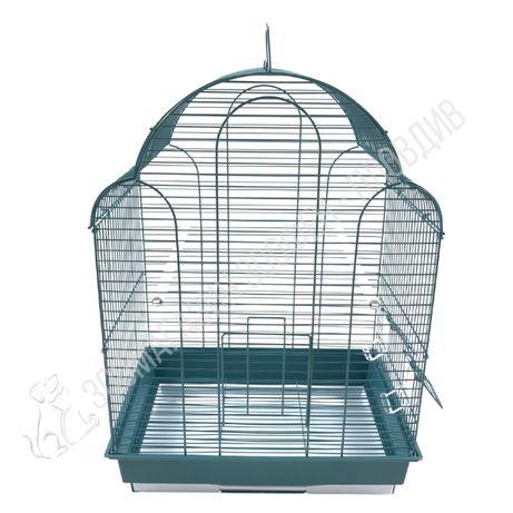 Клетка за Птици с Раздвижен Покрив 42/30/57см + 2 Хранилки и 2 Кацалки