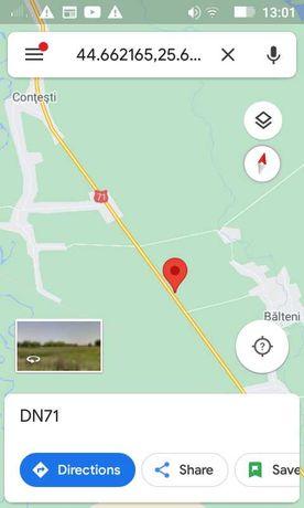 Vand TEREN DN71 Contesti 1.500mp- Bucuresti - Targoviste