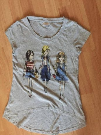 Комплект за момиче - тениска Некст и къс клин с пайети