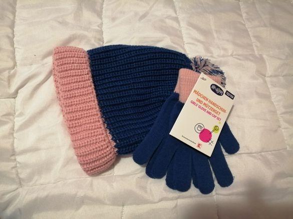 Комплект шапка и ръкавици
