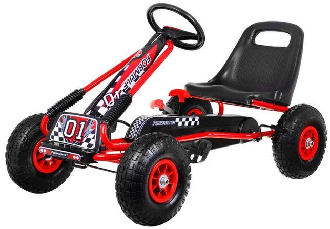 Kart cu pedale pentru copii roti gonflabile (A15) Rosu