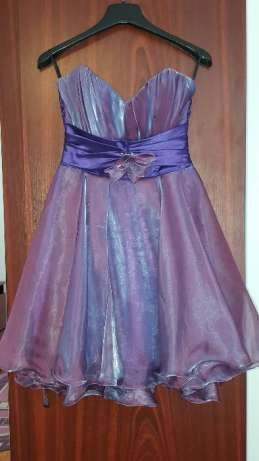 Rochie de ocazie, scurta, mov, cu corset, 36, S