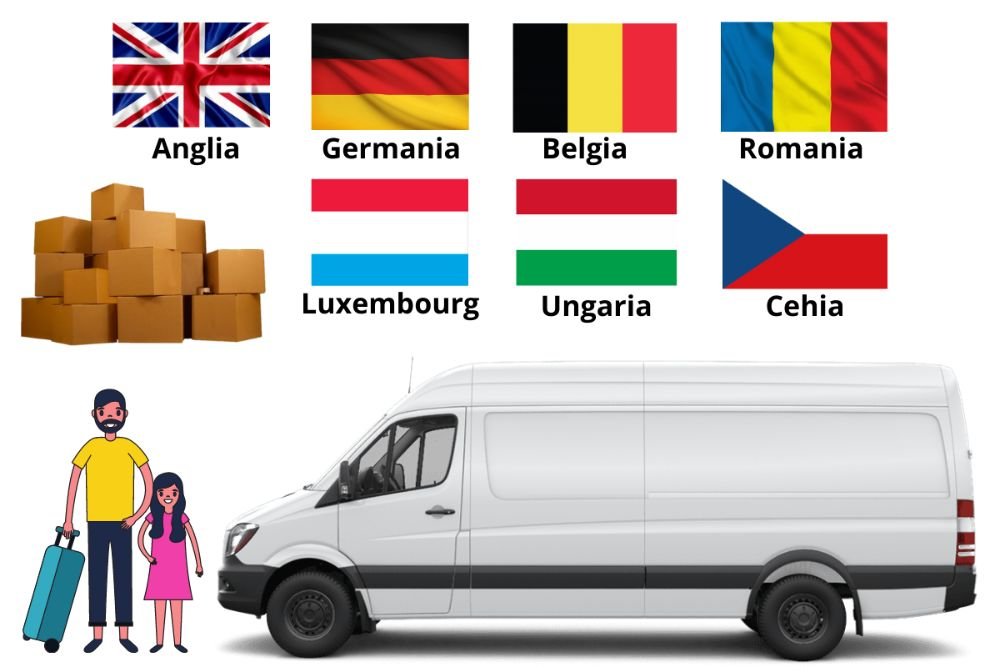 Transport Colete Persoane Anglia, Belgia, Germania,Luxemburg la adresa