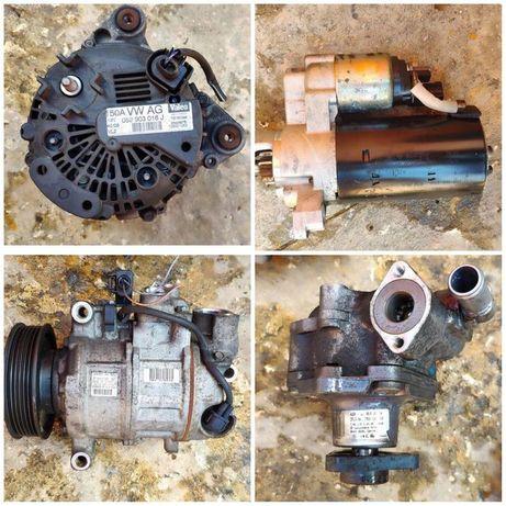 Компресор климатик динамо стартер и хидравлична помпа за Audi A5 A4