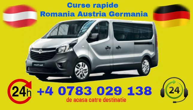 Transport Persoane Germania Austria Romania curse zilnice de la adresa