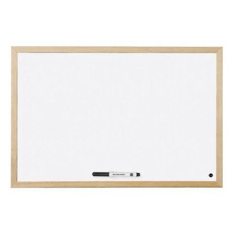 Бяла дъска, дървена рамка 30х40 см