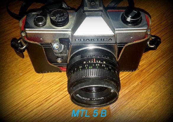 ретро антика фотоапарат практика с обективи от ГДР и светкавица