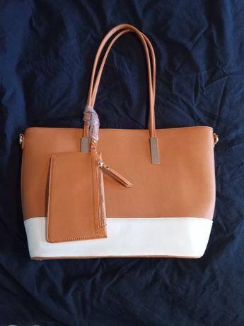 Дамска Кожена Чанта с дълга дръжка