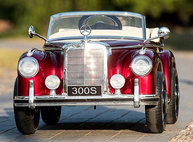 Masinuta electrica pentru copii Mercedes 300S cu Scaun tapitat #Rosu