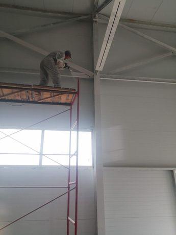 Безвоздушная покраска стен, потолков, заборов, крыш...
