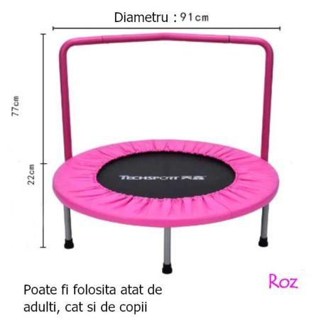 Trambulina Fitness/Cardio, Maxim 150 kg, Pentru Adulti sau Copii