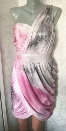 Рокля от ръчно рисувана коприна