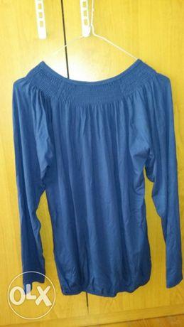 Синя блузка , цветна блузка