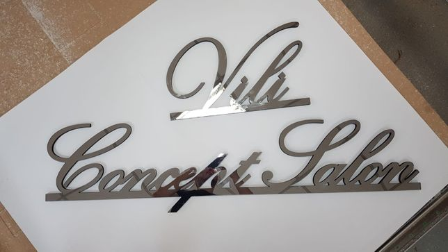 Sigla, window graphic, cutting,litere volumetrice polistiren luminoase