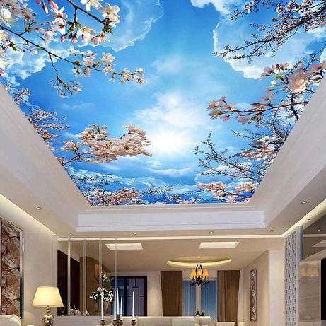 Натяжной потолок цена Матовый Глянцевый от 1200 тг м/кв Гарантия 10лет