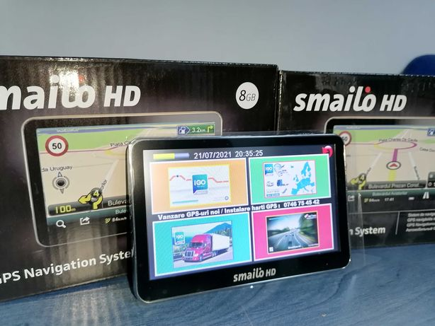 Gps Smailo HD NOU   5 inch   Harti instalate   Auto/Tir/ Europa 2021