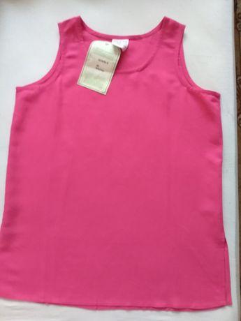 Цикламена блуза без ръкави от лен