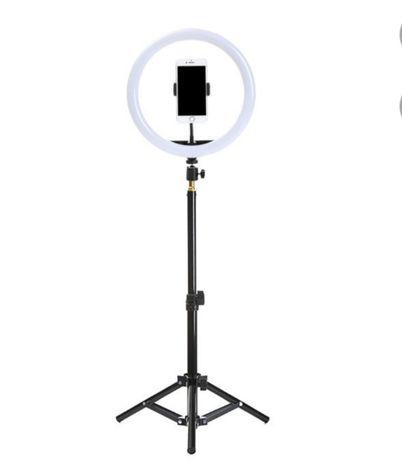 Светодиодная кольцевая лампа с регулируемым штативом
