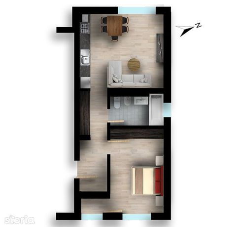 2 Camere (Studio), Bloc Finalizat Si Intabulat, Gata Pentru Mutare!