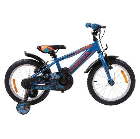 Bicicleta Omega Master 16″, pentru Copii, Cadru Otel, Roti ajut. Blue