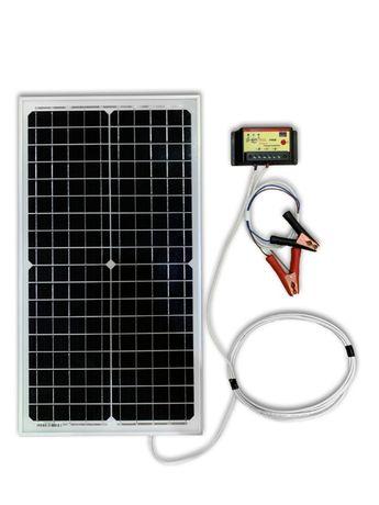 Panou solar fotovoltaic 20W, 30W, 50W, 150W cu regulator