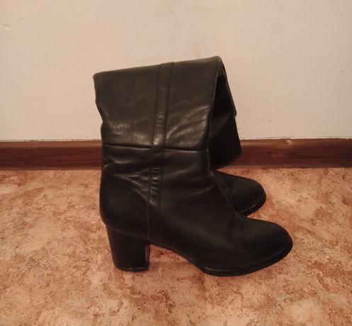 Срочно продам кожаный зимний обуви