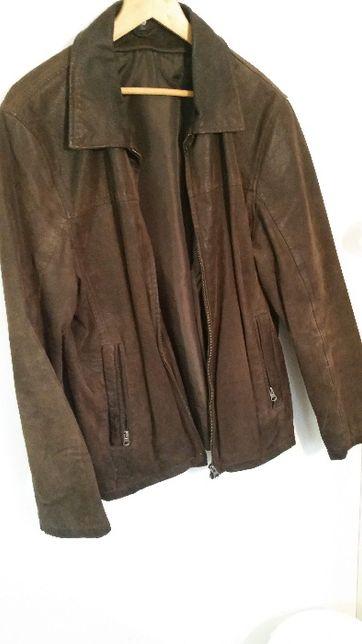 jacheta geaca piele maro C&A cu mesada