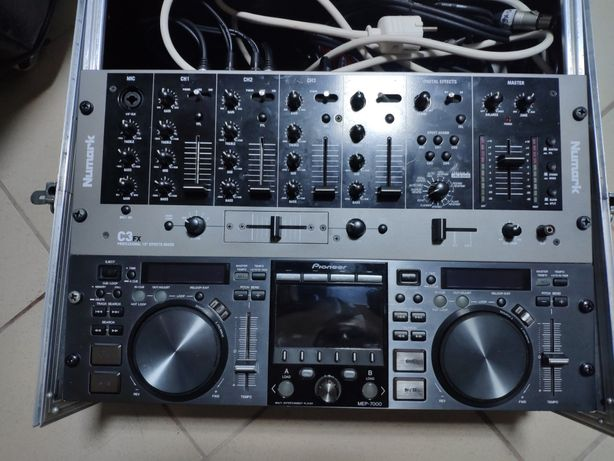 Consola dj Pionner Mep 7000 (pionner behringer) + mixer + case