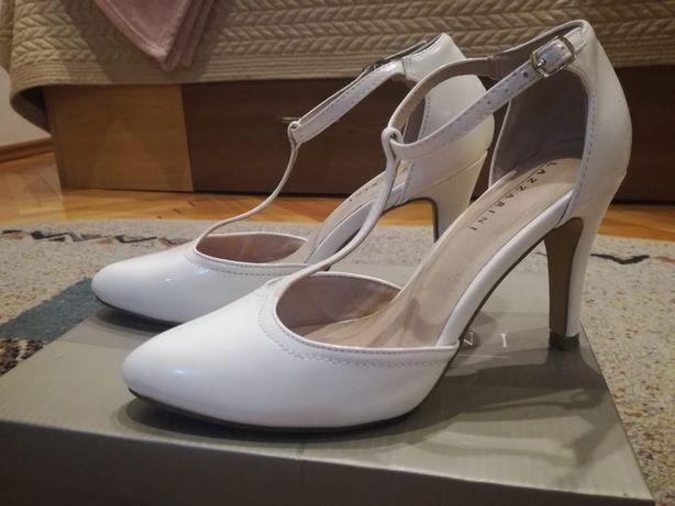 Pantofi albi, marca Lazzarini, mar.37