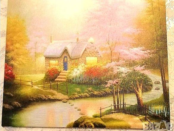 Картина Къщата с подрамка