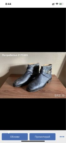 Оригинални кожени обувки versace със сериен код ползвани броени пъти